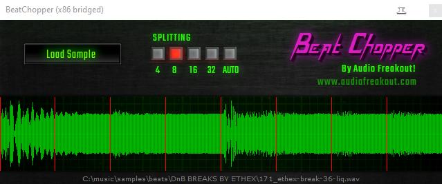 Screenshot of Beat Chopper VST plugin