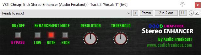 Screenshot of The Free Stereo Enhancer VST plugin